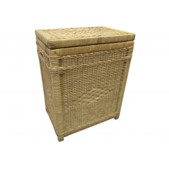 Kensington Rectangular Wicker Laundry Basket Natural
