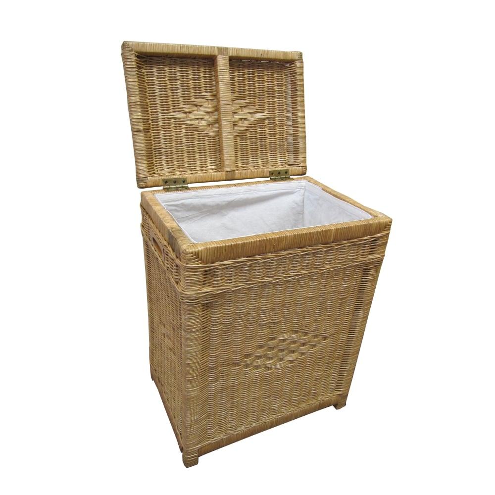 buy kensington rectangular wicker laundry basket natural. Black Bedroom Furniture Sets. Home Design Ideas
