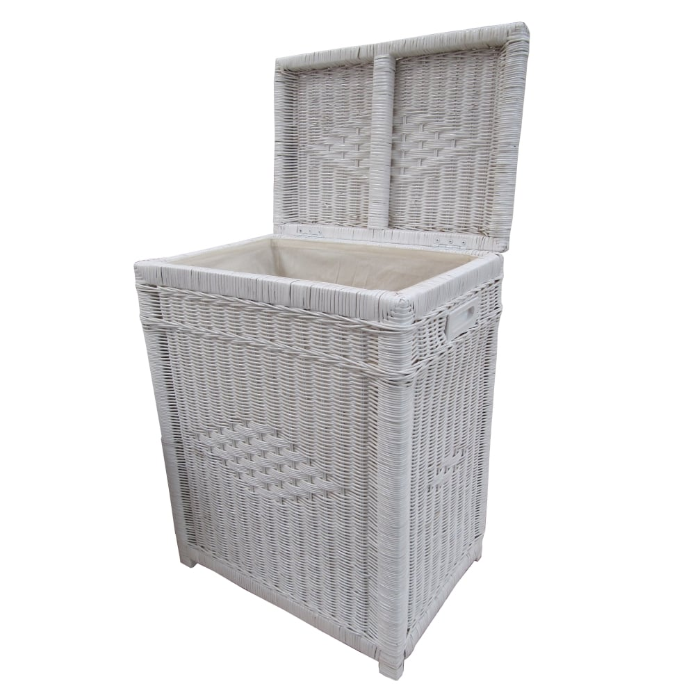 kensington rectangular wicker laundry basket white. Black Bedroom Furniture Sets. Home Design Ideas