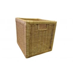 Kensington Square Wicker Storage Basket - Natural Willow