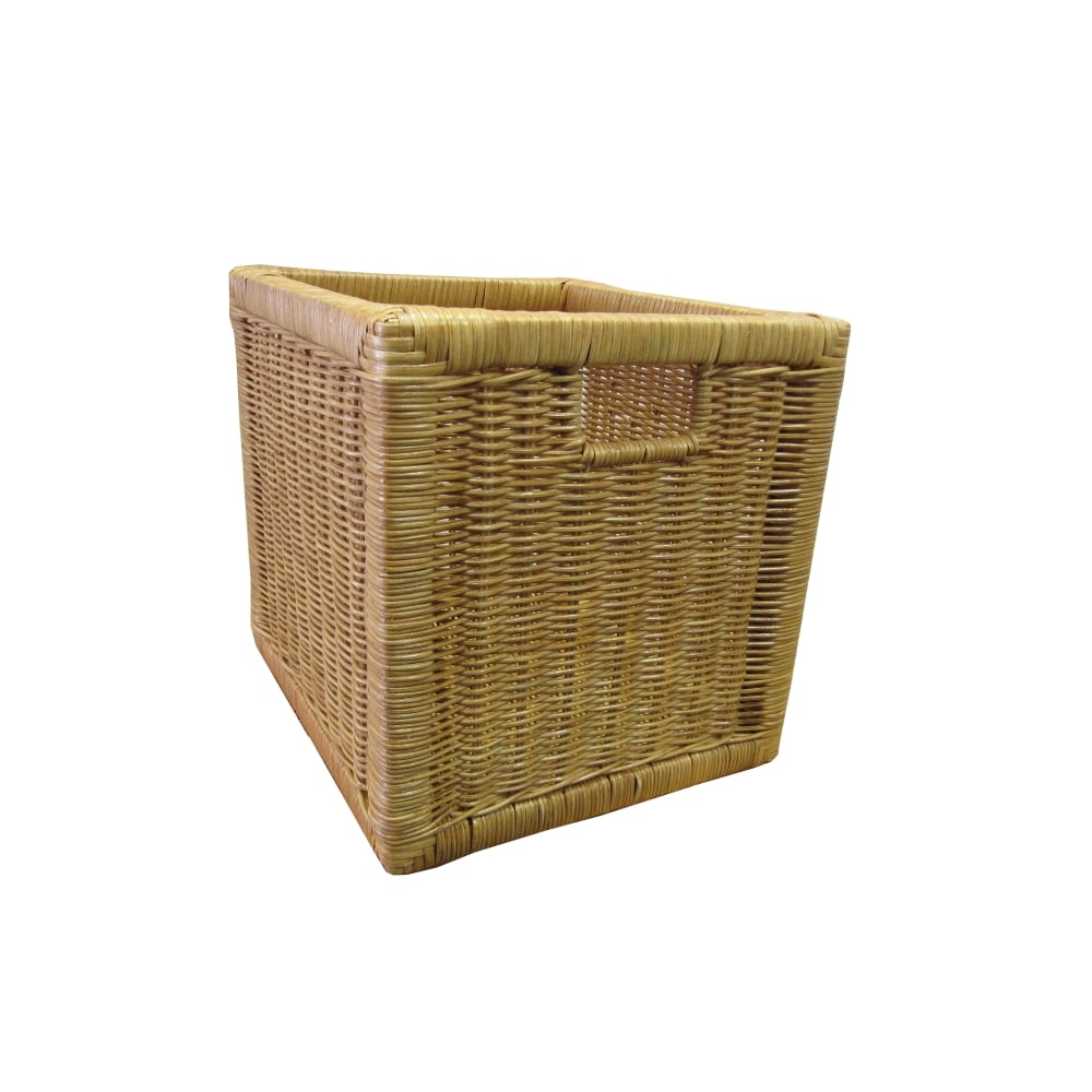 Willow Wicker Storage Basket Hamper Handles Natural Wooden: Kensington Square Wicker Storage Basket