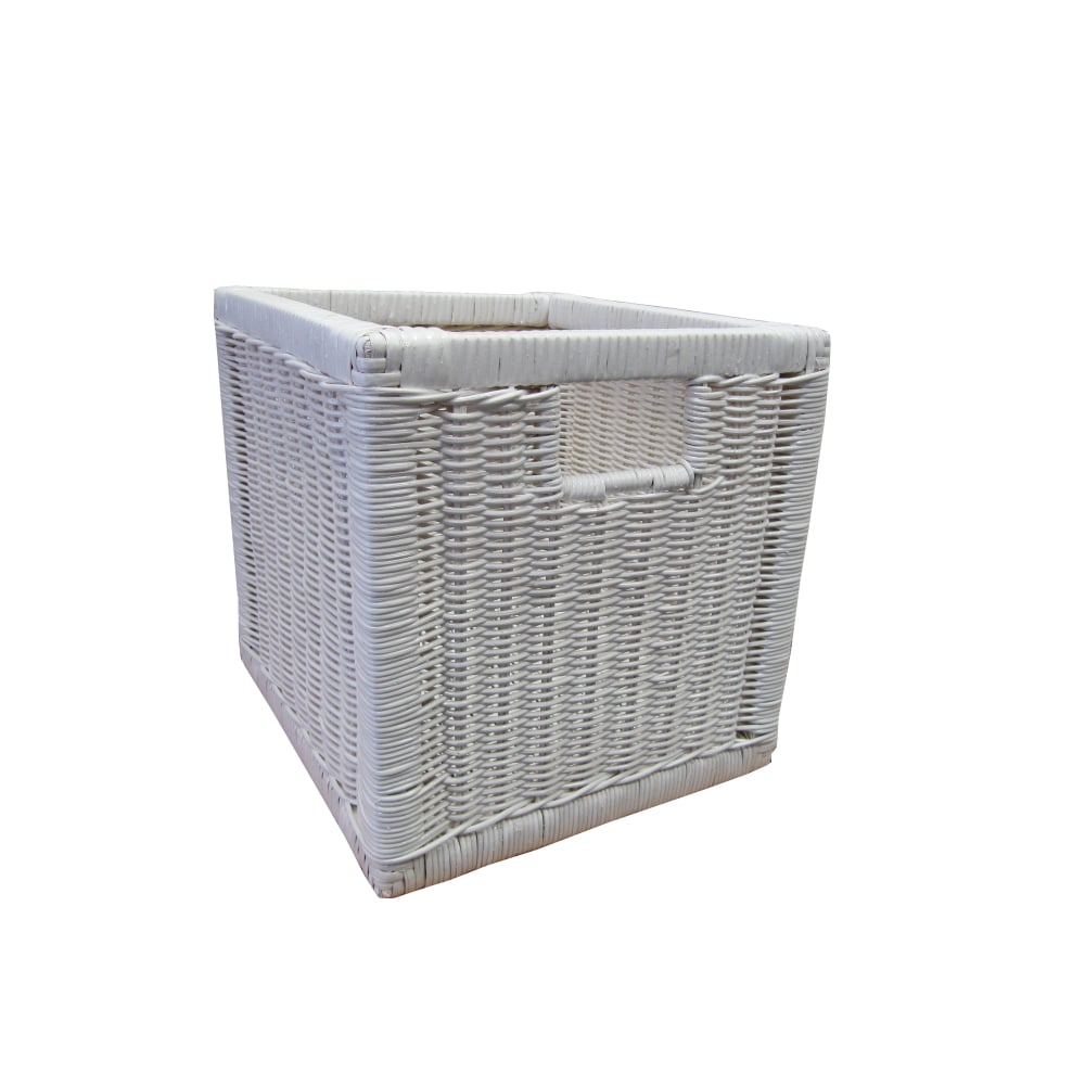 Kensington Square Wicker Storage Basket White Willow