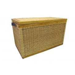 Kensington Wicker Storage Trunk - Natural Willow - Lined