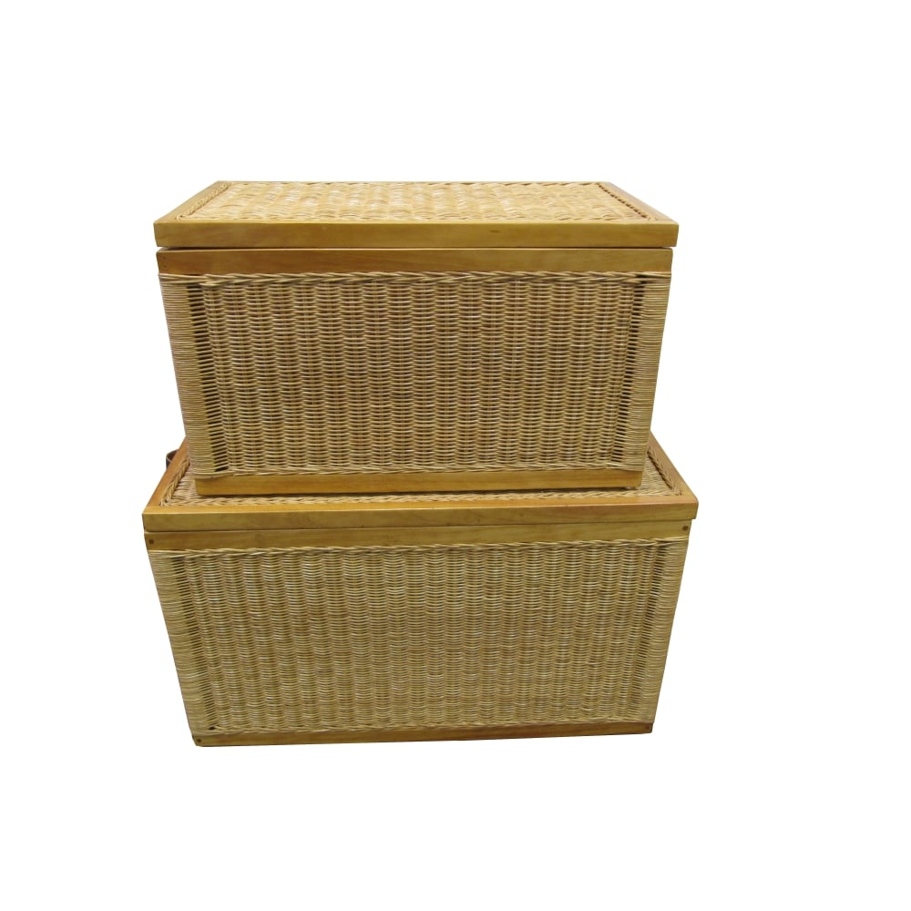 Buy Kensington Wicker Storage Trunk Natural Willow Lined