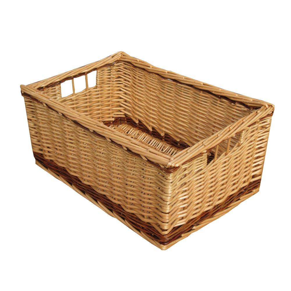 Wicker storage basket home storage baskets melbury rectangular wicker - Melbury Rectangular Wicker Storage Basket