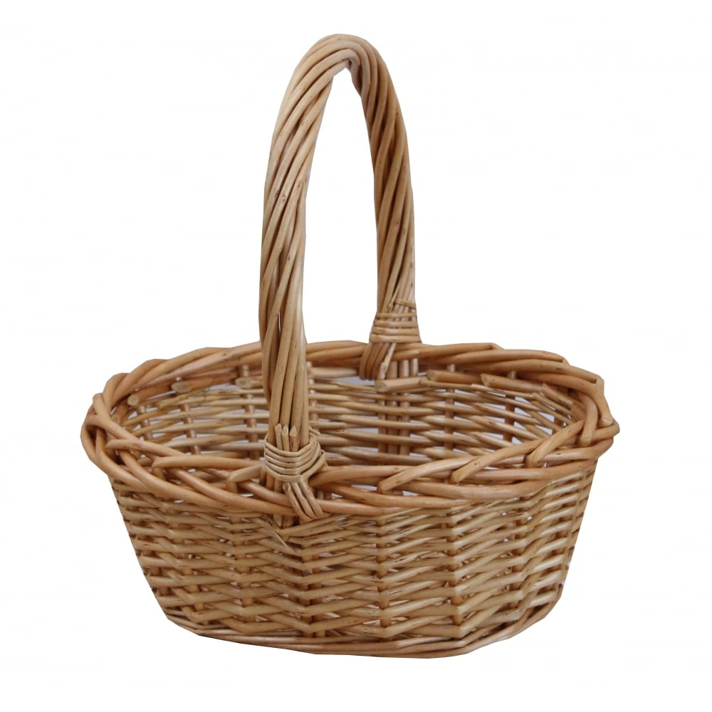 Traditional Small Wicker Basket With Liner&handle : Buy small wicker ping basket from the
