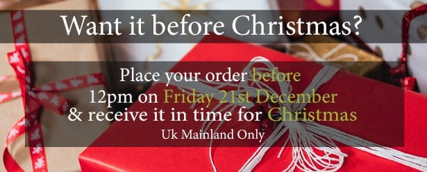 Order before 12pm Xmas 2018