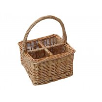 Natural Wicker Cutlery Basket | Condiment Basket