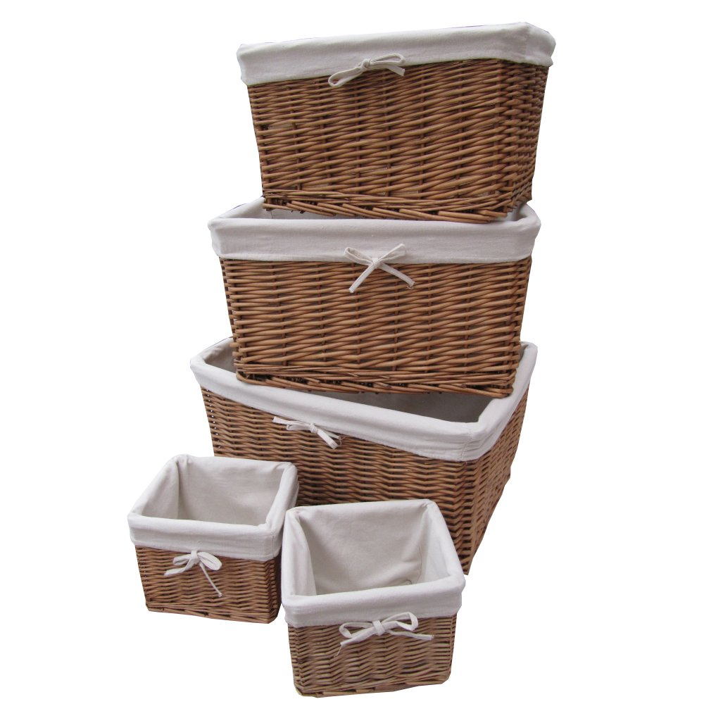 Buy Natural Wicker Lined Storage Basket From The Basket
