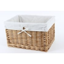 Natural Wicker Rectangular Deep Storage Basket