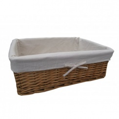 Natural Wicker Rectangular Storage Basket