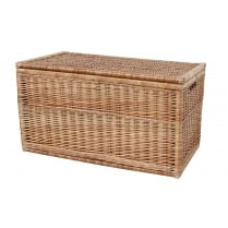 Natural Wicker Storage Trunk / Chest
