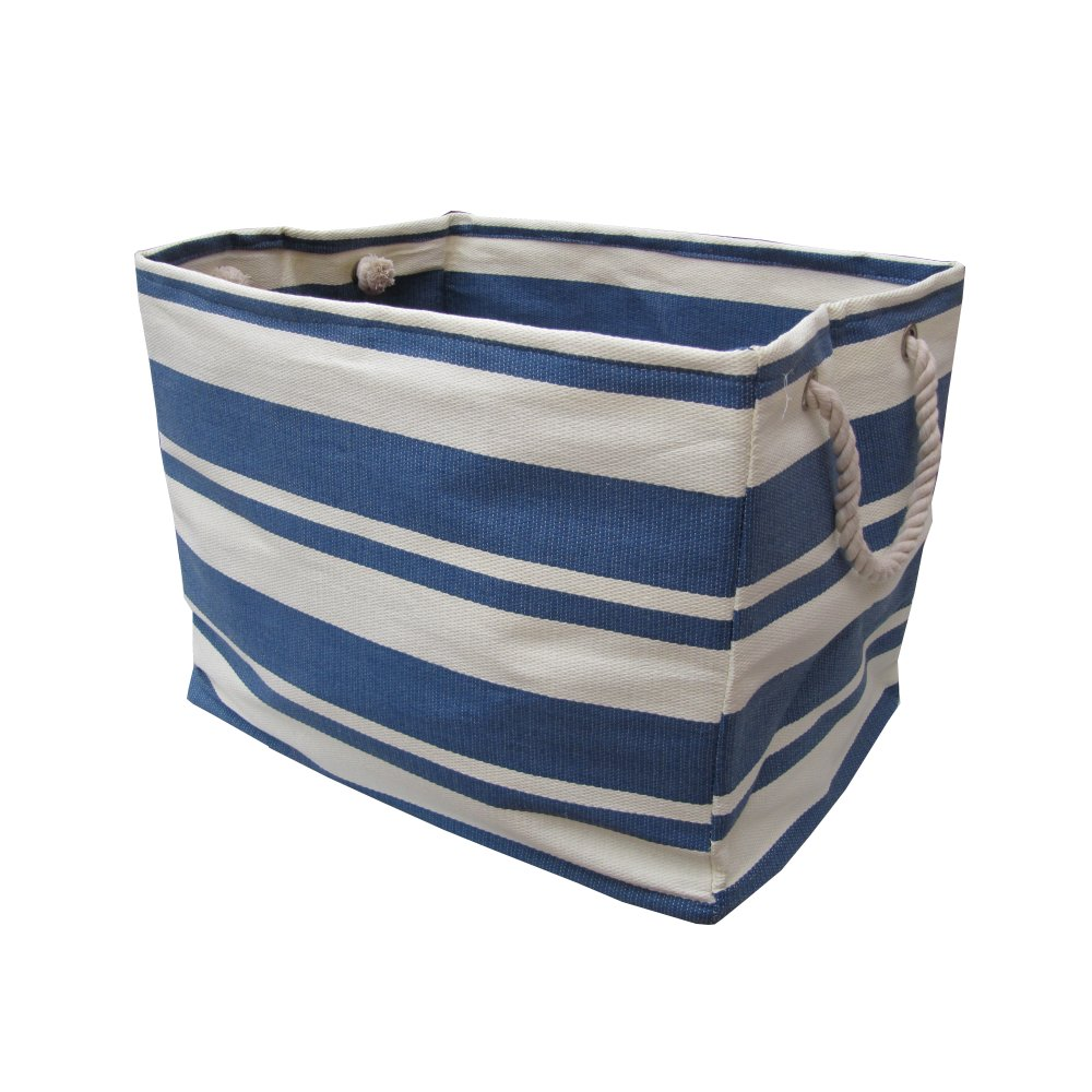 Blue Amp White Stripe Large Canvas Bags
