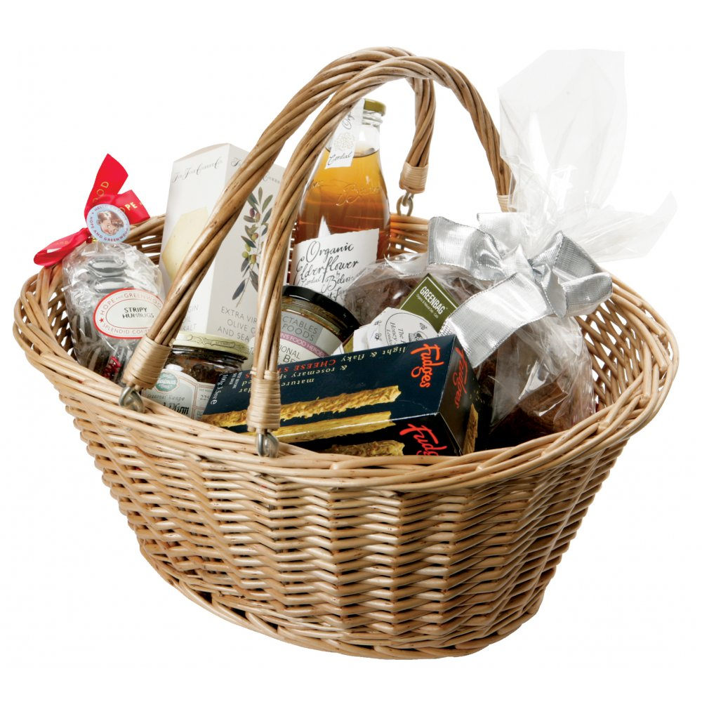 Wicker Hamper Baskets With Handles : Buy oval wicker ping basket with swing handles the