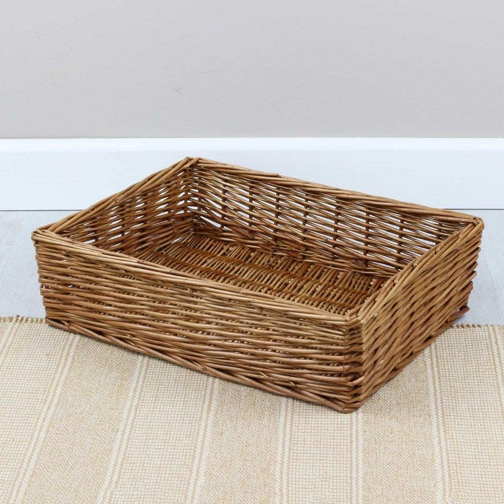 Padstow Wicker Empty Hamper Basket Tray