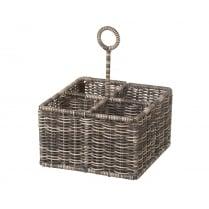 Polywicker Cutlery / Condiment / Wine Bottle Carrier Basket