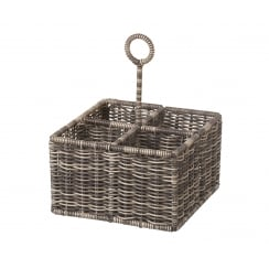 Polywicker Cutlery / Condiment / Wine Bottle Carrier Basket