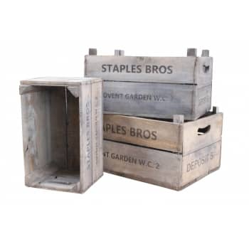 Win a set of 3 vintage style wooden crates worth £75