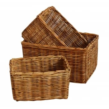 Win a set of 3 Honey Rattan Wicker Baskets worth over £70