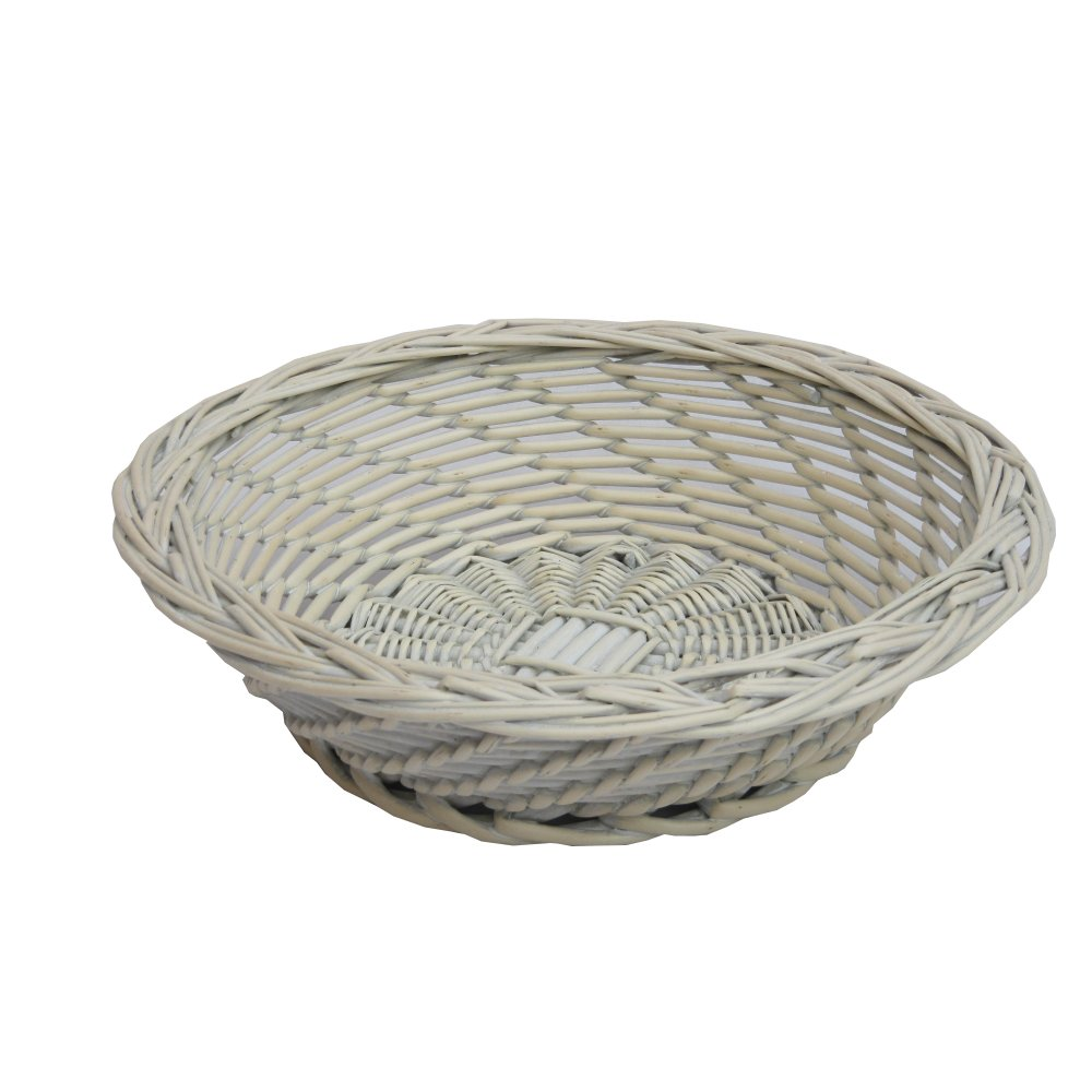 Buy Grasmere Grey Wash Wicker Storage Basket From The: Buy Provence Round White Wicker Storage Basket From The