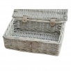 Provence White Wash Small Wicker Empty Hamper Basket | Storage Basket