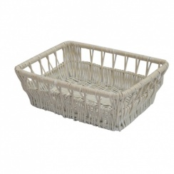 Provence White Wicker Empty Hamper Baskets | Storage Baskets