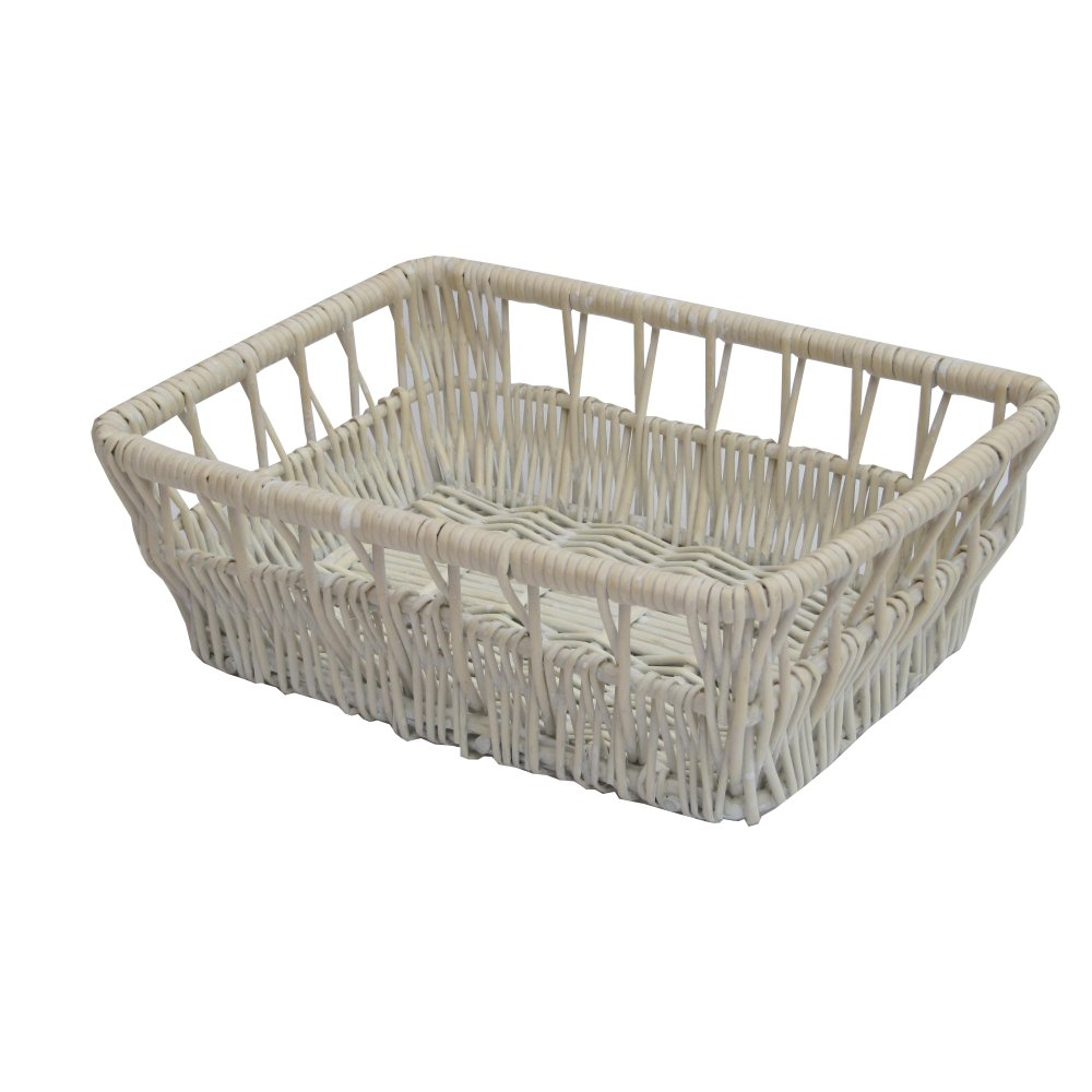 Buy Provence White Wicker Empty Hamper Baskets From The