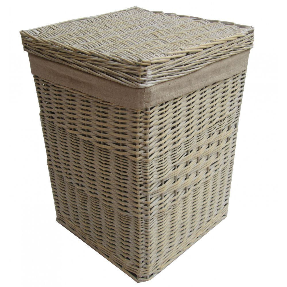 buy provence white wicker laundry basket from the basket company. Black Bedroom Furniture Sets. Home Design Ideas