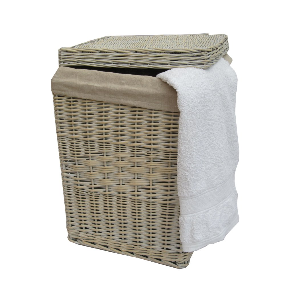 Buy provence white wicker laundry basket from the basket White wicker washing basket