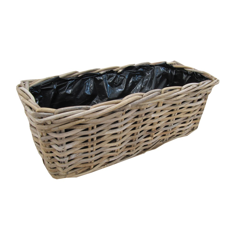 Rattan Flower Baskets : Buy rattan window box planter from the basket company