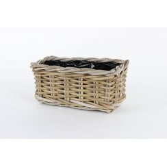 Rattan Window Box Wicker Planter Small