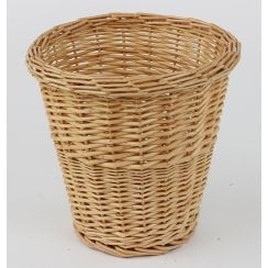 Round Wicker Waste Paper Bin