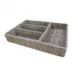 Seagrass Cutlery Drawer Organiser Cutlery Tray