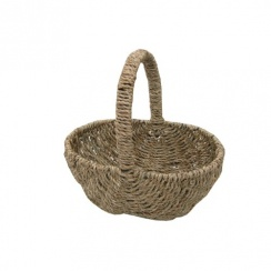 Seagrass Small Shopping Basket Child's Size Mini Shopping Basket