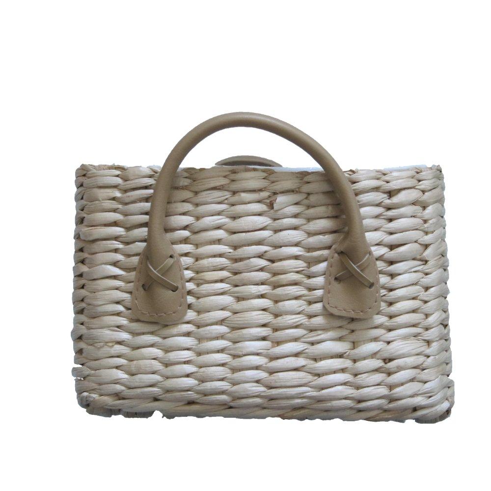 Soft Rush Lidded Rectangular Lined Storage Basket: Soft Rush Rectangular Lined Storage Basket