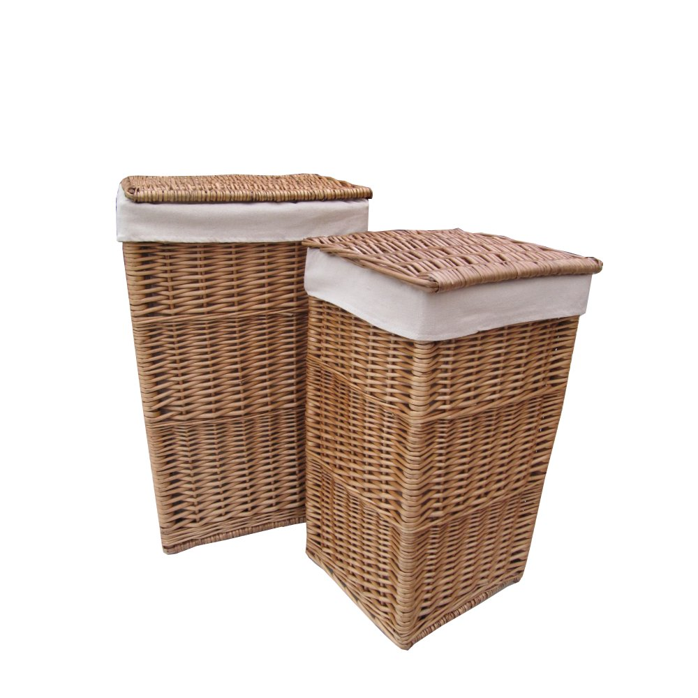 Buy Square Natural Wicker Laundry Basket From The Basket