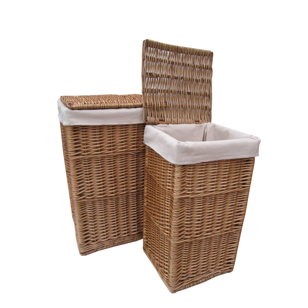 Buy Square Natural Wicker Laundry Basket From The