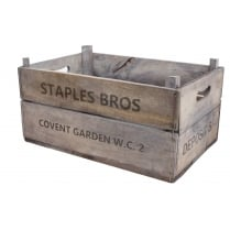 Vintage Style Deep Apple Box Crate Recycled Wooden Storage Box