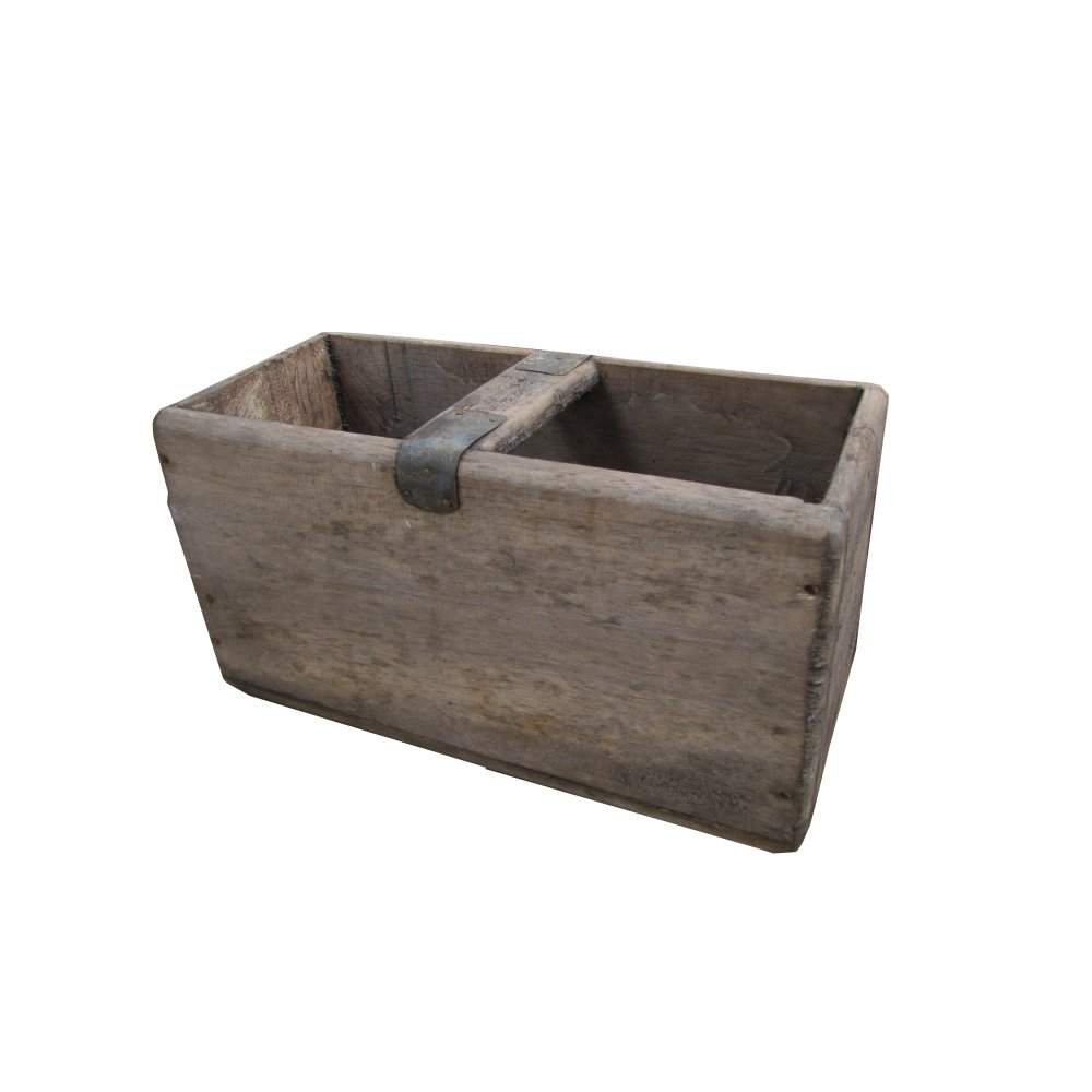 Vintage style wooden storage box for Vintage wooden storage boxes