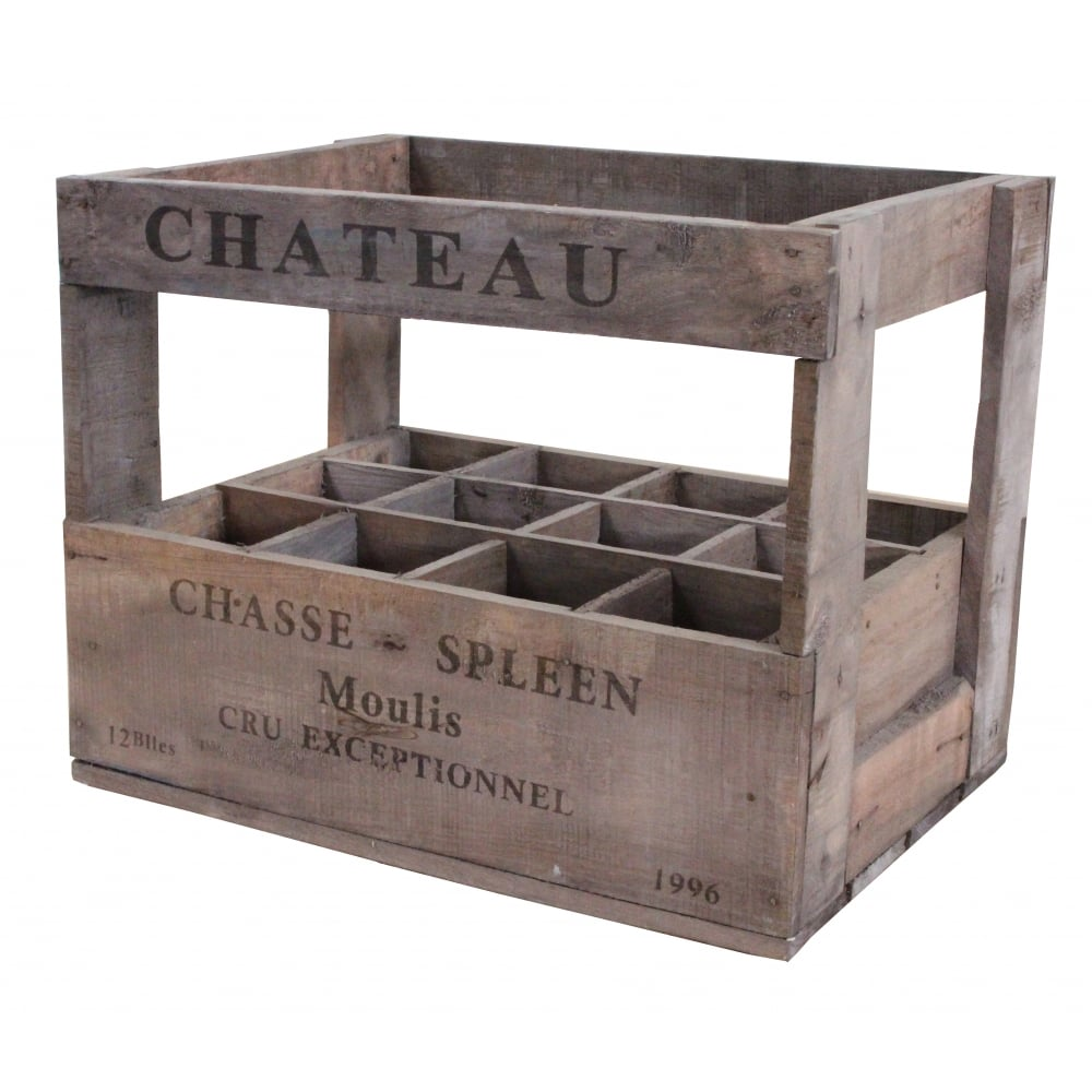 Buy vintage style wine crate 12 bottle online for Where to buy used wine crates