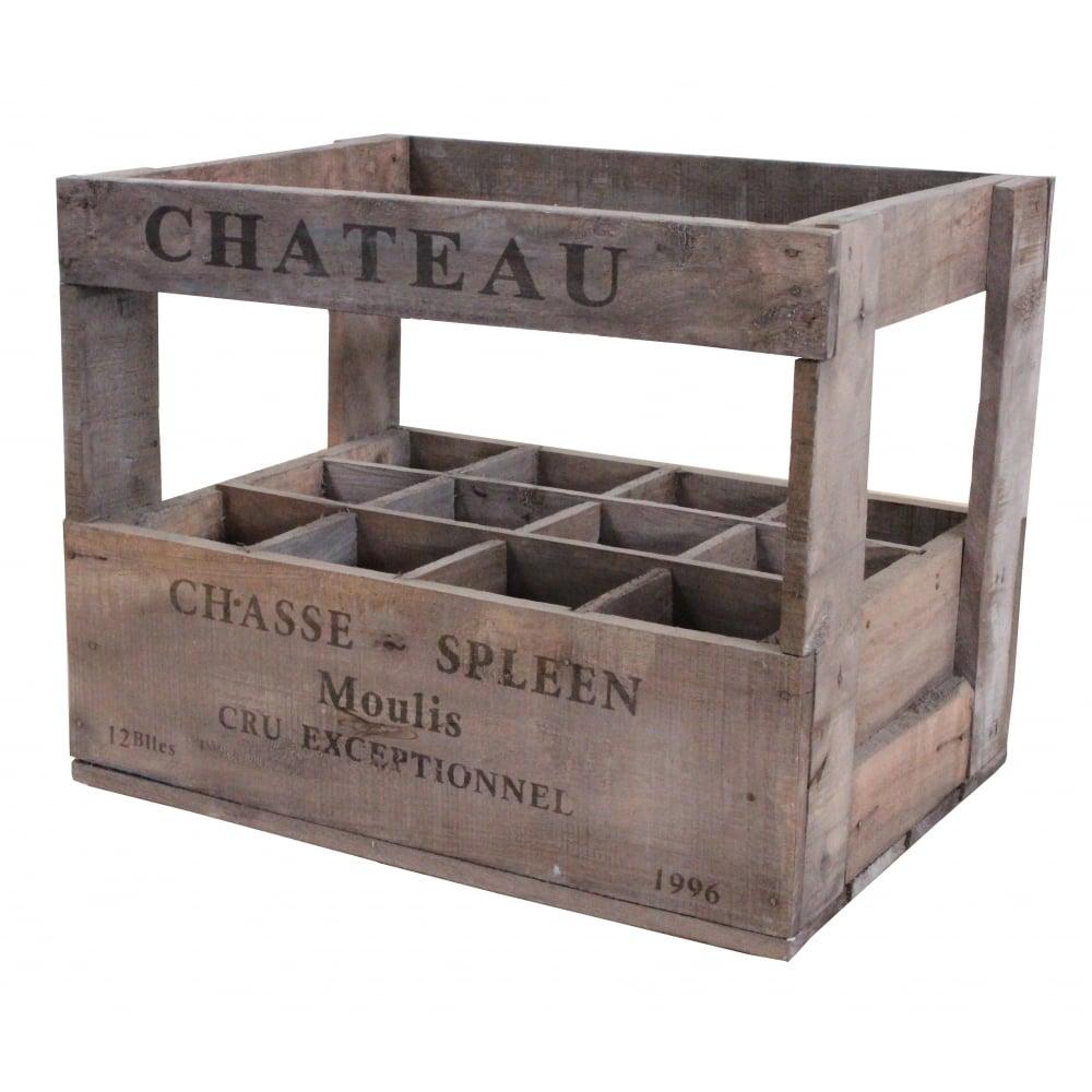 Buy Vintage Style Wine Crate 12 Bottle Online