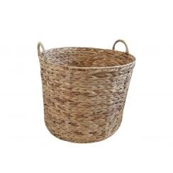 Water Hyacinth Round Natural Storage Basket