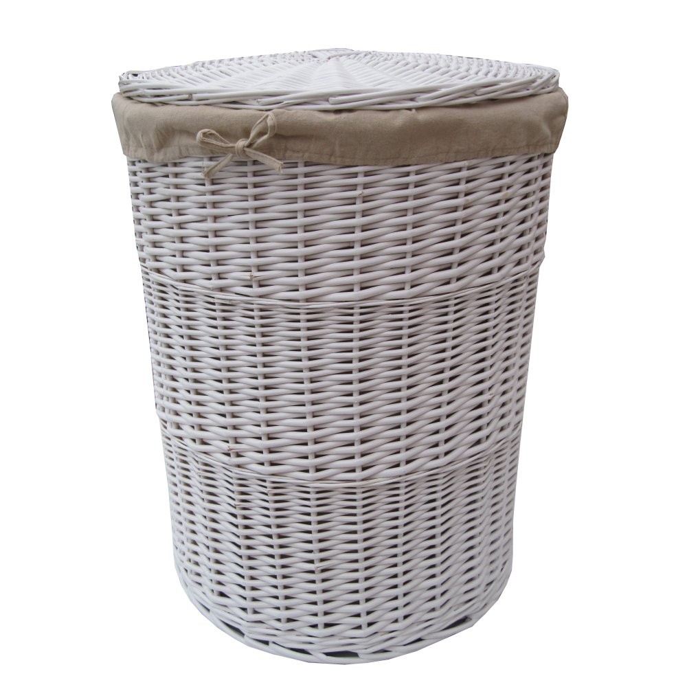 White Round Wicker Laundry Basket : white round wicker laundry basket p212 478image from www.thebasketcompany.com size 1000 x 1000 jpeg 140kB