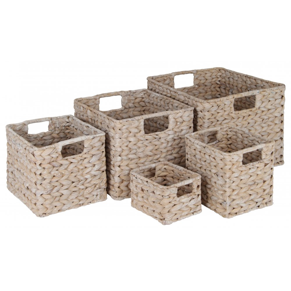 Buy White Water Hyacinth Storage Baskets From The Basket