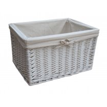 Grey buff rattan rectangular laundry basket - Whites and darks laundry basket ...