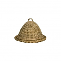 Wicker Food Dome With Serving Platter | Food Cover Dome