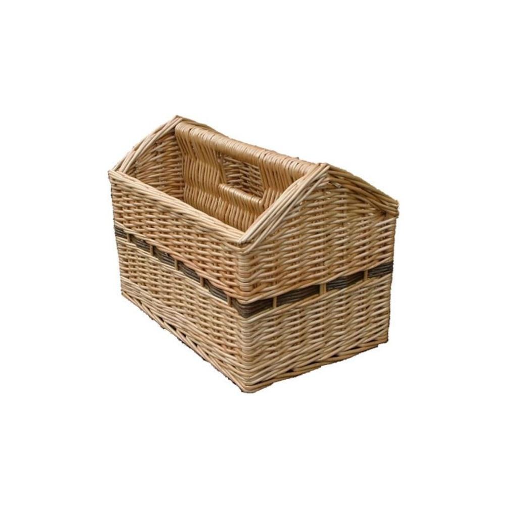 Wicker Magazine Holder Storage Basket