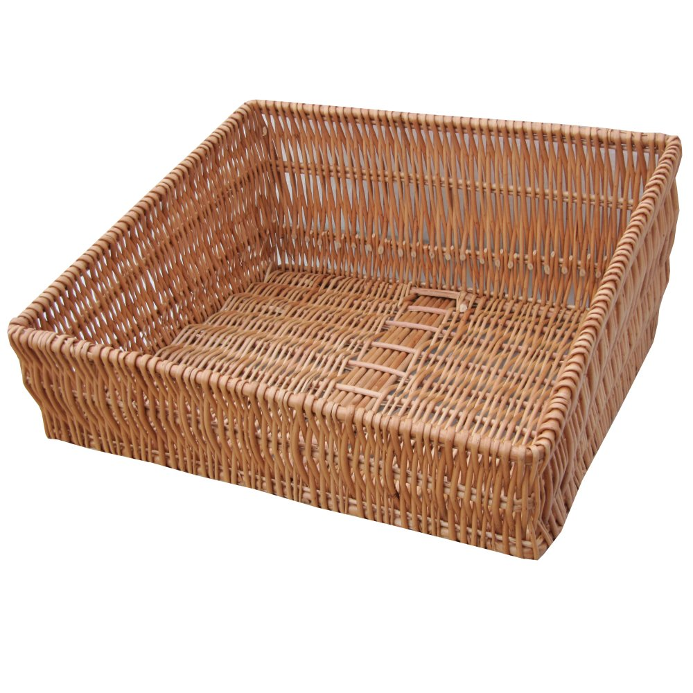 Buy Wicker Shop Display Basket Sloped Online From The