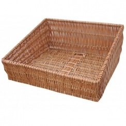 Wicker Shop Display Basket (Sloped)