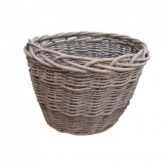 Wild Willow Oval Wicker Log Basket